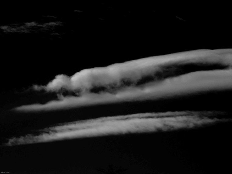 Cumulus lenticularis aka a series of mountain wave clouds - January 26th 2012