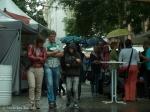 festival in the rain
