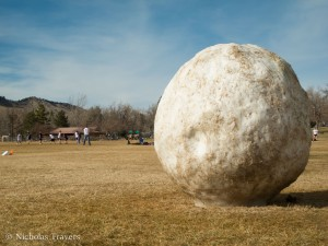 Large Snowball in North Boulder Park