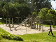 play-structure up in the Berkeley hills