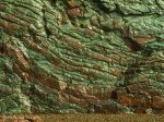 Red and Green Wet Rock