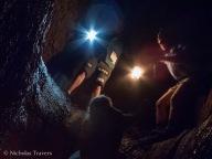 a challenging bit, climbing up an 8 foot 'lava fall'