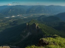 That is where we came, that is the Columbia River Gorge, below is the sddle and the ridgeline all the way down.