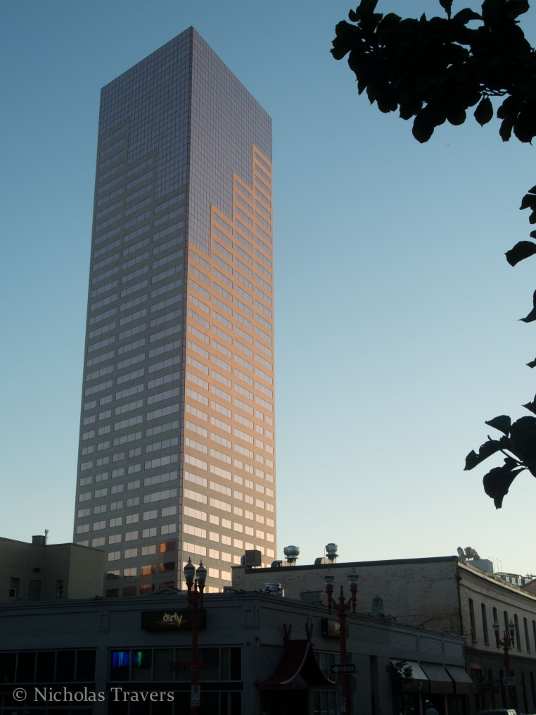 an evening architectural shot - who will make the snide, observant, comment?
