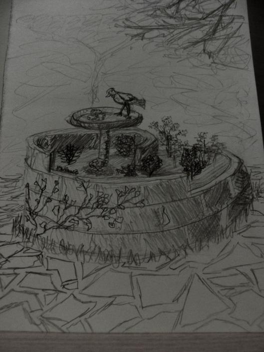 Sketch of the Herb Spiral we built