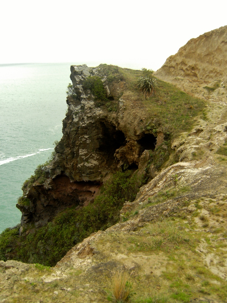 a crumbling sea cliff of sorts
