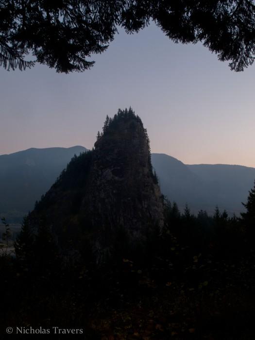 Beacon Rock at Dusk