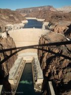 shadow of the bridge... with lake mead behind the dam