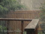 A hard blast of rain