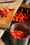 lots of romas from Flying Onion Farm to slice up! - - http://www.flyingonionfarm.com