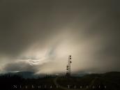 Radio Tower, 3 corner rock, full moon light.