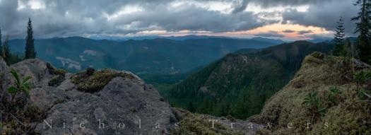 Overlook below (North) of 3 corner rock - on the PCT