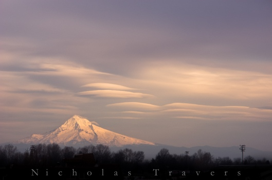 Mt Hood and Lenticular clouds