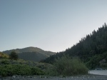 dawn from campsite location on a beach of the klamath river