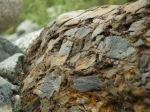 a strange (iron laden?) boulder
