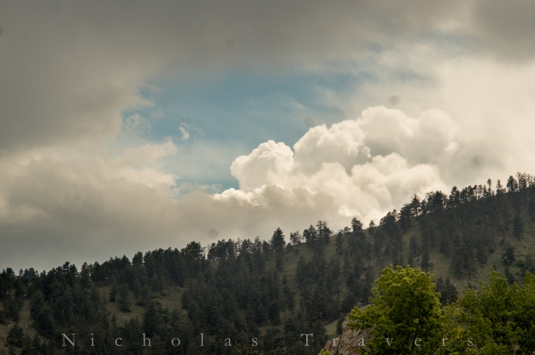 boiling cumulous clouds over the boulder foothills
