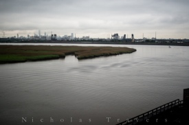 NYC Skyline over Newark Marshes